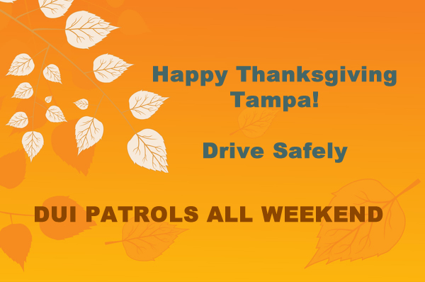 Tampa DUI holiday patrols