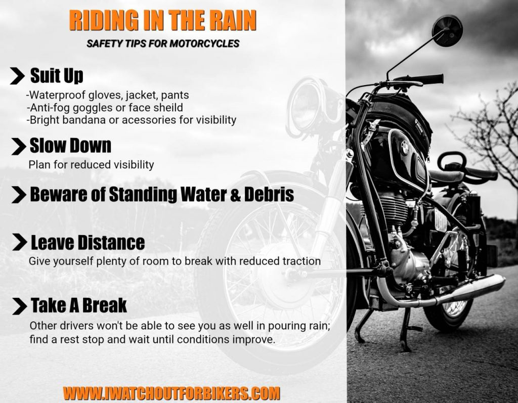 Motorcycle Safety Tips: Riding in the Rain